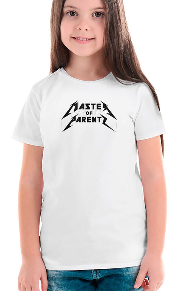Camiseta Infantil Master of Parents Branco
