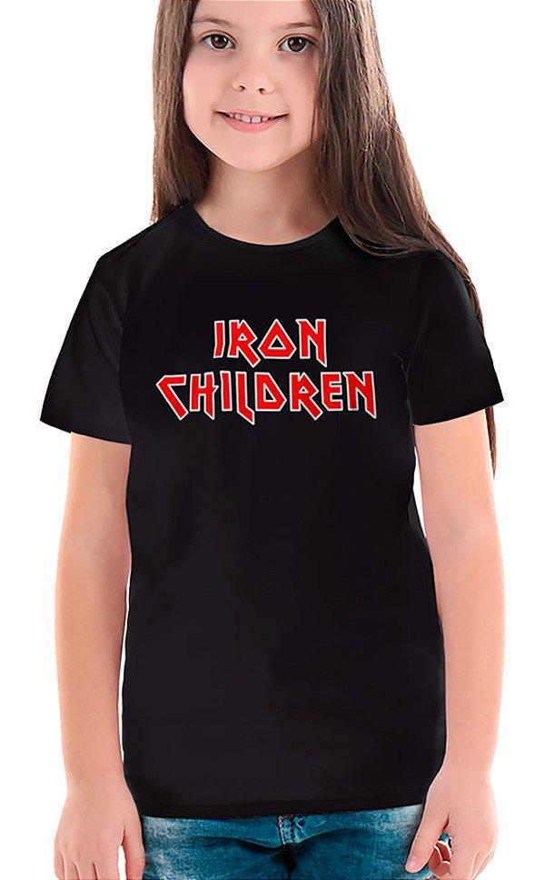 Camiseta Infantil Iron Children Preto