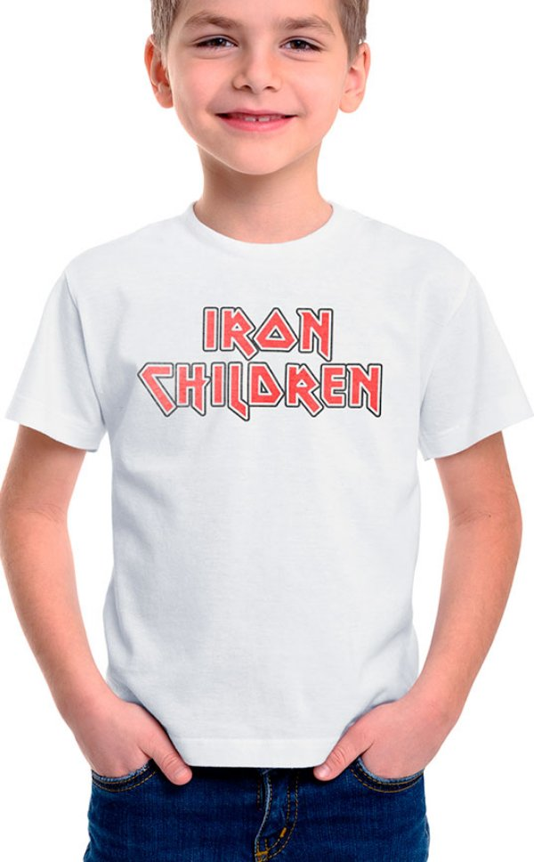 Camiseta Infantil Iron Children Branco