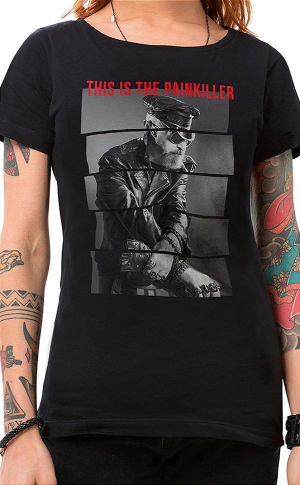 Camiseta Feminina Painkiller Preto