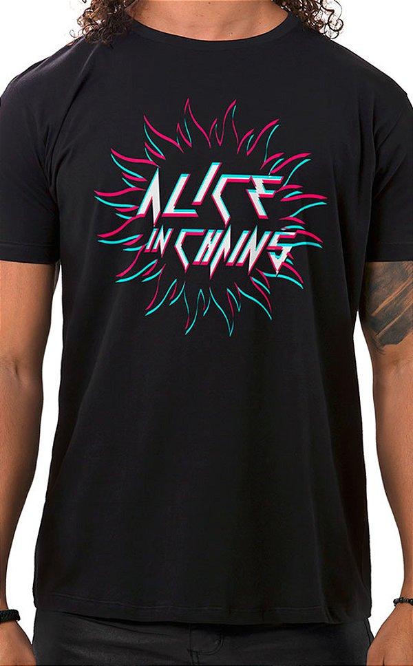Camiseta Masculina Sun in Chains Preto