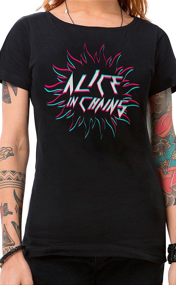 Camiseta Feminina Sun in Chains Preto