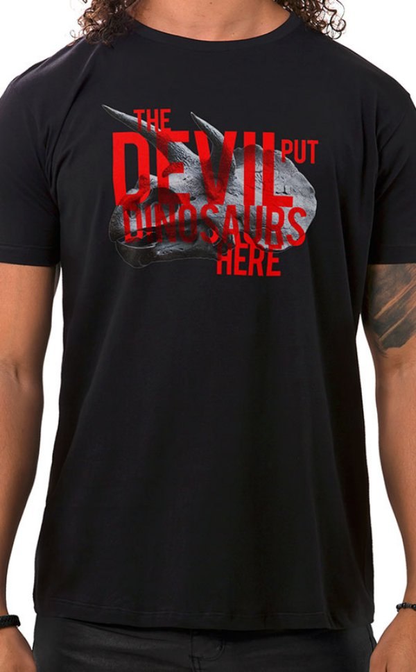 Camiseta Masculina Dinosaurs Preto
