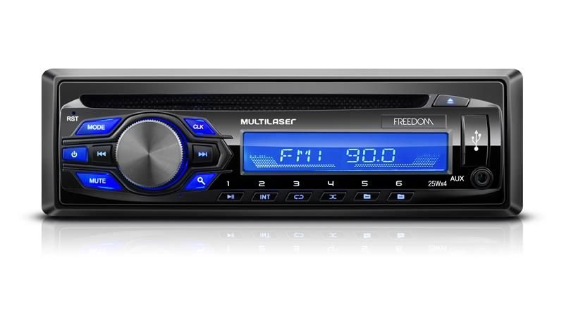 Cd player Automotivo Multilaser P3239 com Mp3 Fm Aux Usb P2