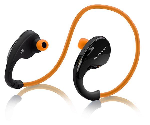 Fone de Ouvido Arco Sport Multilaser PH185 Bluetooth Laranja