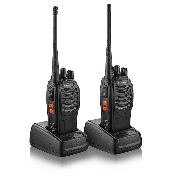Par de Rádio Comunicador Walkie Talkie Multilaser Tv003 8km