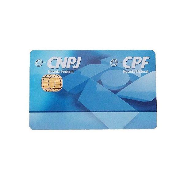 Cartão Smart Token Para Certificado Digital E-cnpj E E-cpf