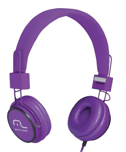 Fone de Ouvido Headphone Ph090 Multilaser Com Microfone P2 Roxo