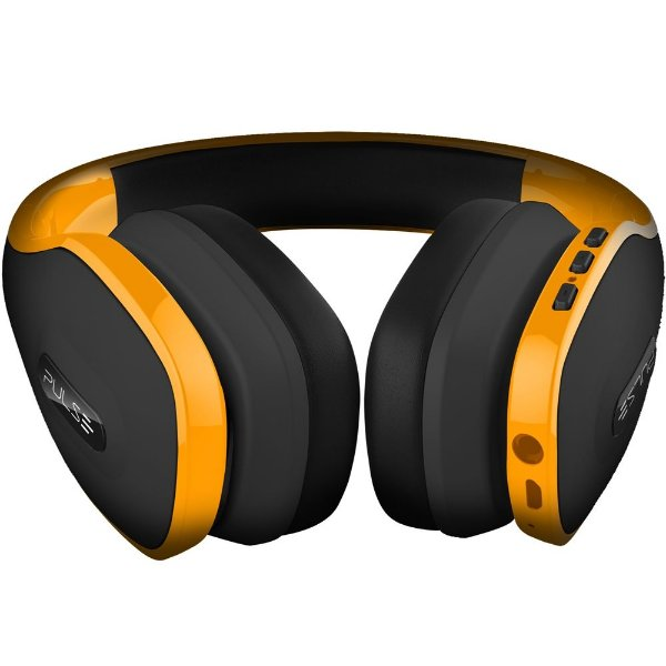 Fone De Ouvido Headphone Pulse Ph151 Bluetooth Preto Amarelo