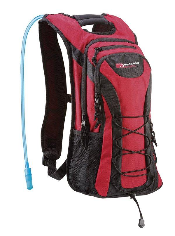 Mochila de Hidratação Adventure BI020 Multilaser 1,5 Litro Vermelha