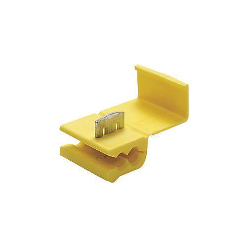 Conector de Derivação para Cabos Eletricos de 4mm a 6mm Amarelo - 100 Unidades