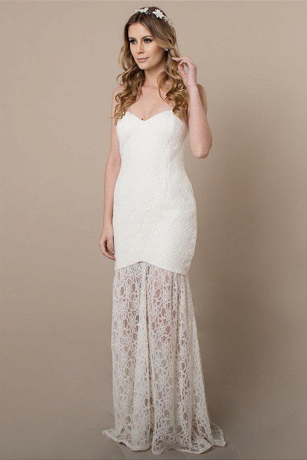 Vestido de Noiva Tomara que Caia Milene