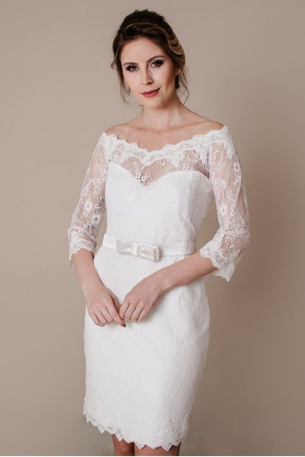 Vestido de Noiva Curto Michele - Vlr. de Venda