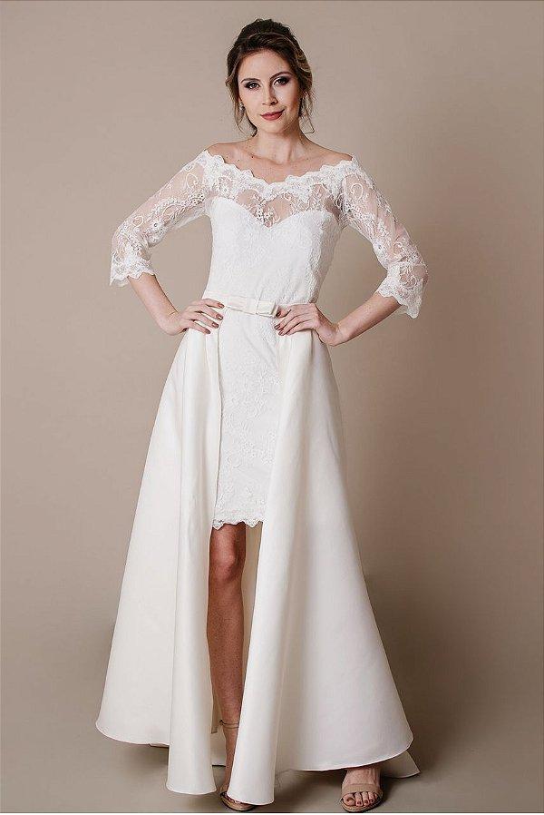 Vestido de Noiva Michele Longo - Vlr. de Venda