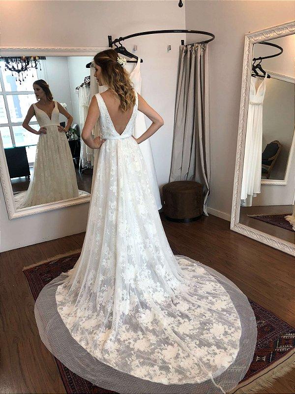 Vestido de Noiva Gisele - Vlr. de Venda