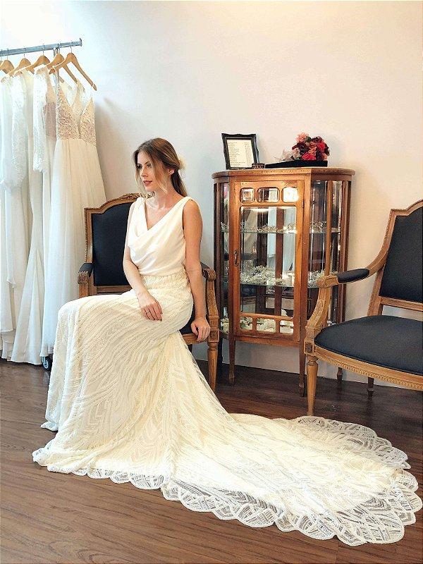 Vestido de Noiva Rebeca - Vlr. de Venda