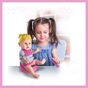 coleção happy doll faz xixi cabelo LOIRO