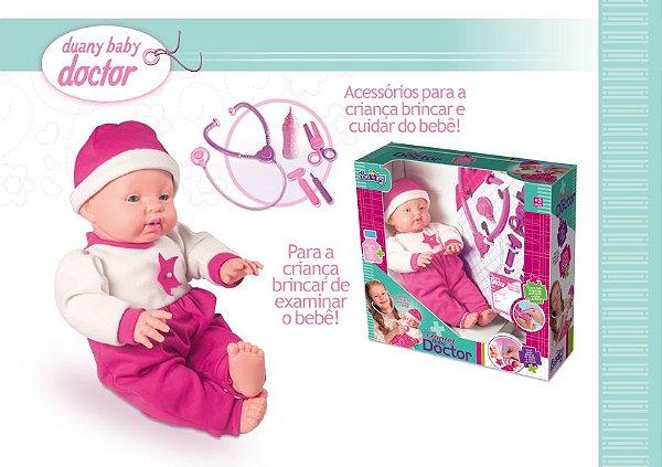DUANY BABY DOCTOR BONECA COM CORPINHO DE ENCHIMENTO MACIO
