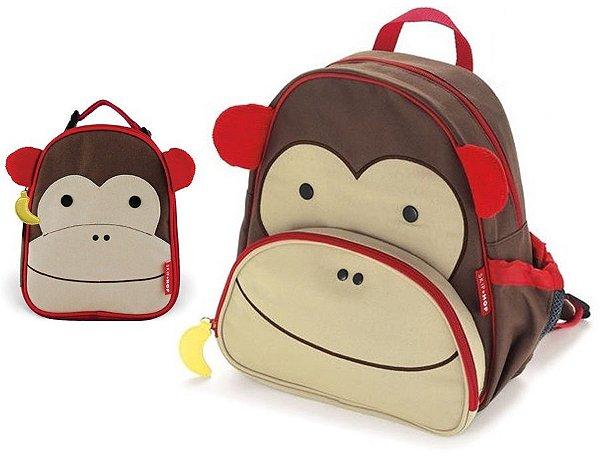 Kit Escolar Mochila de Costas e Lancheira Skip Hop Macaco