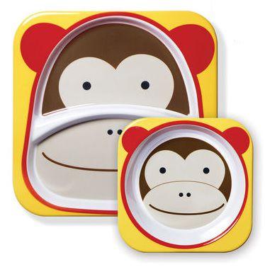 Conjunto de Pratos Skip Hop Macaco (6m+)