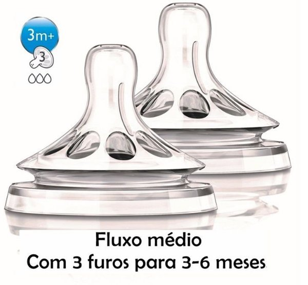 Bico de Mamadeira Pétala N3 2 Unidades Philips Avent (3m+)