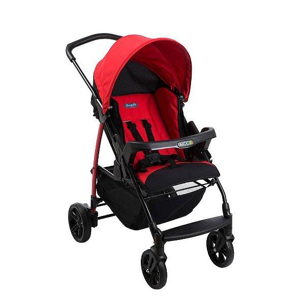 Carrinho de Bebê Ecco Vermelho Burigotto - 4 Posições até 15Kg