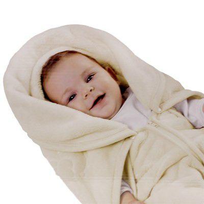 Cobertor Envelope Baby Sac 2 em 1 Bege Jolitex