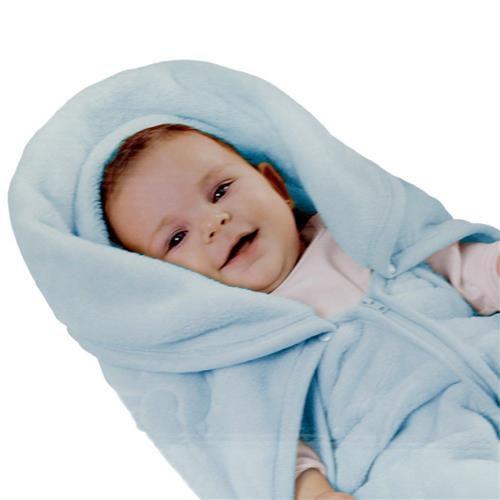 Cobertor Envelope Baby Sac 2 em 1 Azul Jolitex