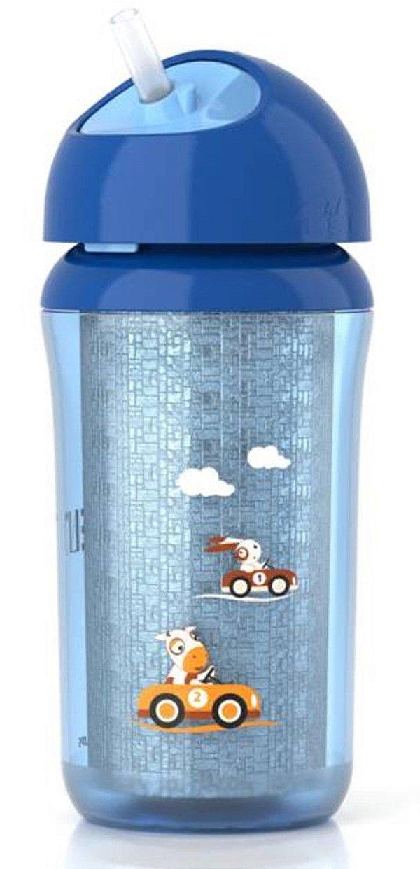 Copo Térmico Insulado com Canudo Azul 260ml Philips Avent (12m+)