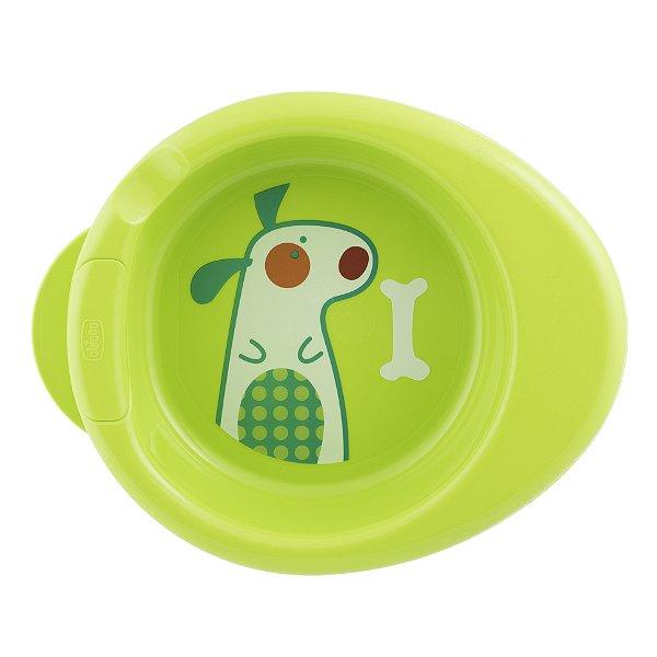 Prato Térmico Cachorrinho Verde Chicco (6m+)