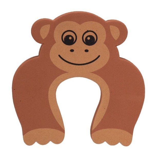 Trava Porta Salva Dedos Macaco Kit 5 Unidades