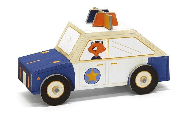 Carrinho de Papelão de Montar 3D Policia Krooom