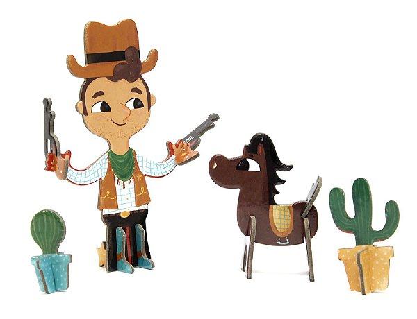 Personagem 3D de Montar Cowboy Krooom
