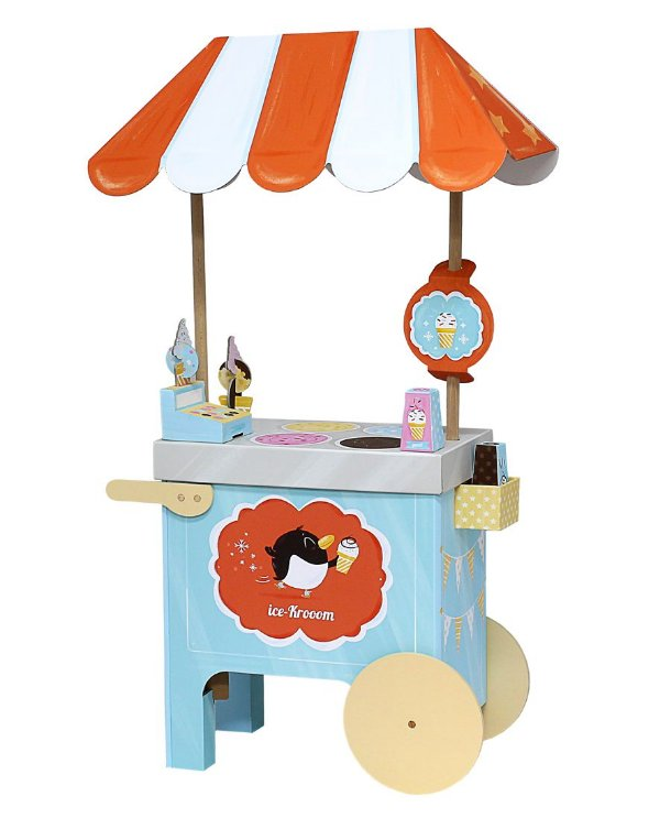 Carrinho de Sorvete Infantil 3D de Montar Krooom