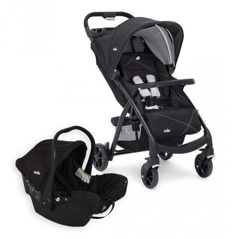 Carrinho de Bebê Muze LX TS + Bebê Conforto Juva Preto Joie
