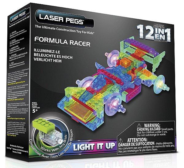 Blocos de Montar 12 em 1 com Luzes Fórmula1 Laser Pegs