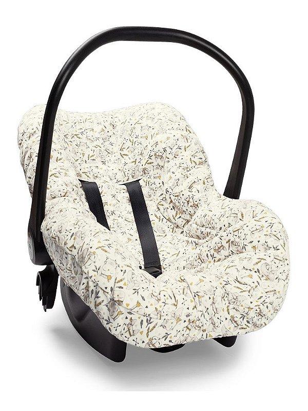 Capa Forro para Bebê Conforto Rosa Floresta Encantada Hug Baby