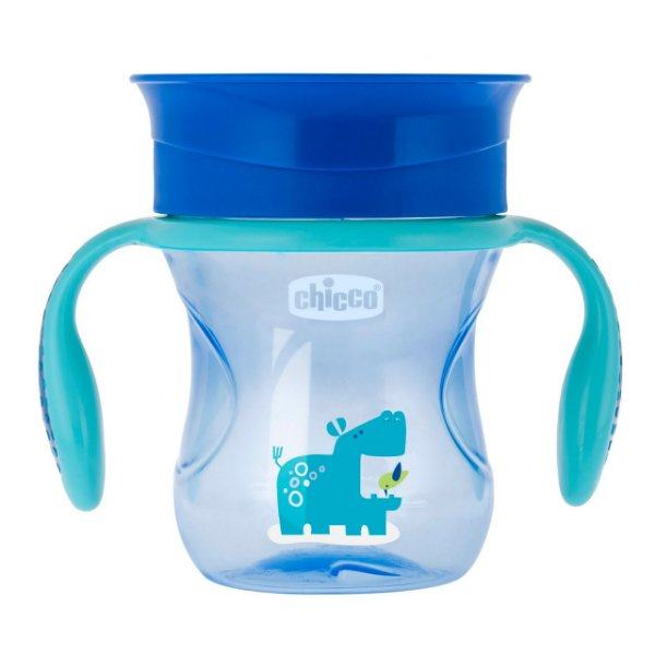 Copo 360° Perfect 200ml Azul Hipopótamo Chicco (12m+)