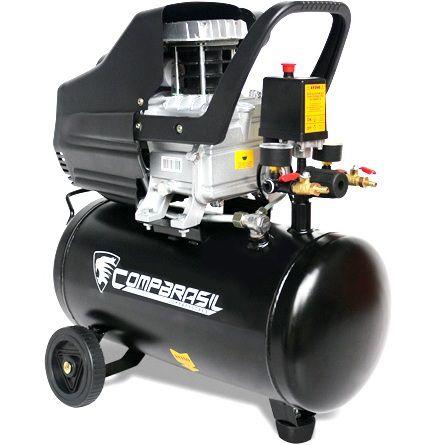 Compressor de Ar Duplo 25l 2hp 8 Bar 220v Compbrasil 80-25l