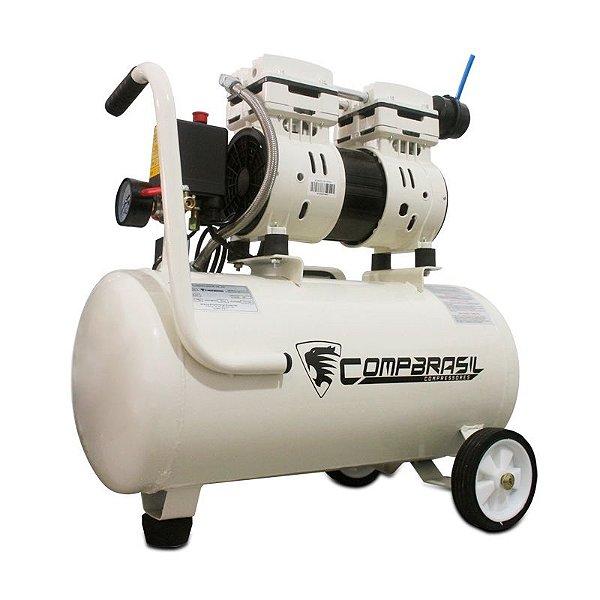 Compressor Ar Silencioso Isento Óleo 220v Compbrasil 550-24l