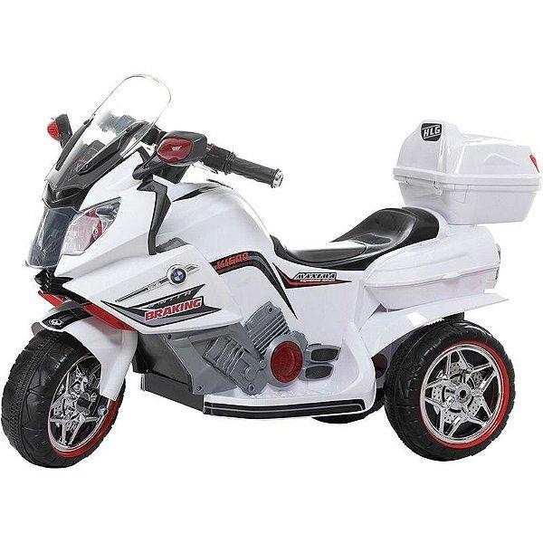 Moto Elétrica BMW Infantil Triciclo Som Luz Bel Fix 928400