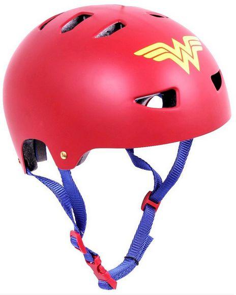 Capacete Pro Skate Bike Patins Roller Tam Médio Mulher Maravilha 602800