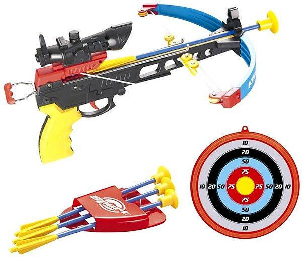 Crossbow Kit Arqueiro Arco Flecha Infra Mira Laser Alvo Bel Fix 490700