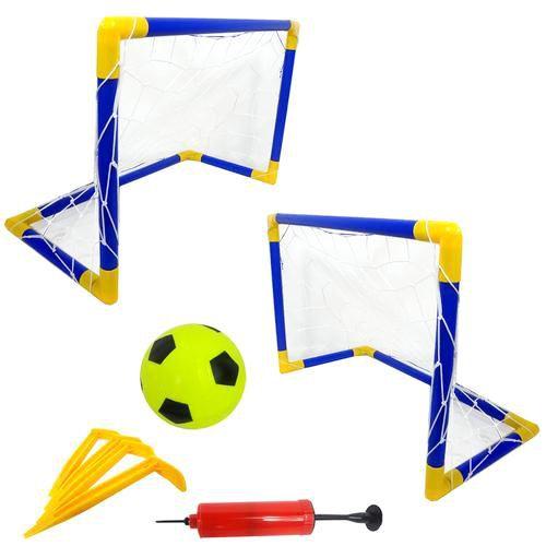 Jogo Futebol Beach Soccer Kit 2 Traves Rede Bola Bomba 46x32cm Bel 488100