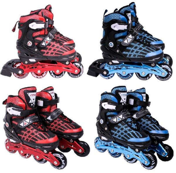 Patins 32, 33, 34, 35, 36 Inline Roller Abec 9 Chassi Alumínio Bel Sports 369200