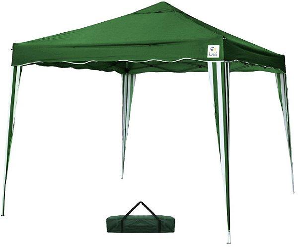 Tenda 3x3m Dobrável Sanfona Poliéster Gazebo Alumínio Praia Verde Bel Fix 331200