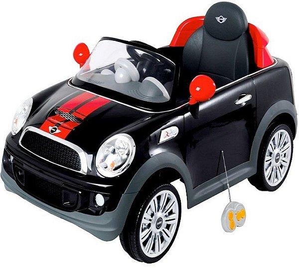 Mini Cooper Veículo Elétrico 2x1 Controle Remoto Preto Kiddo 7003PR
