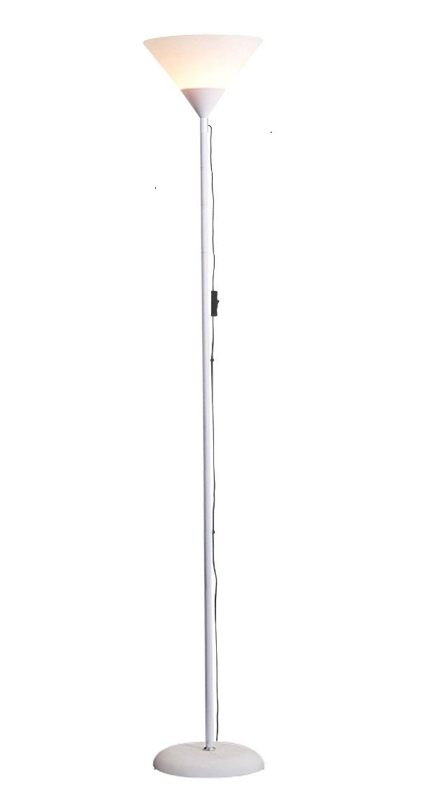 Luminária Chão 1,80m Pedestal Coluna Abajur Led Spot Bivolt Branco Glee MT901F-W