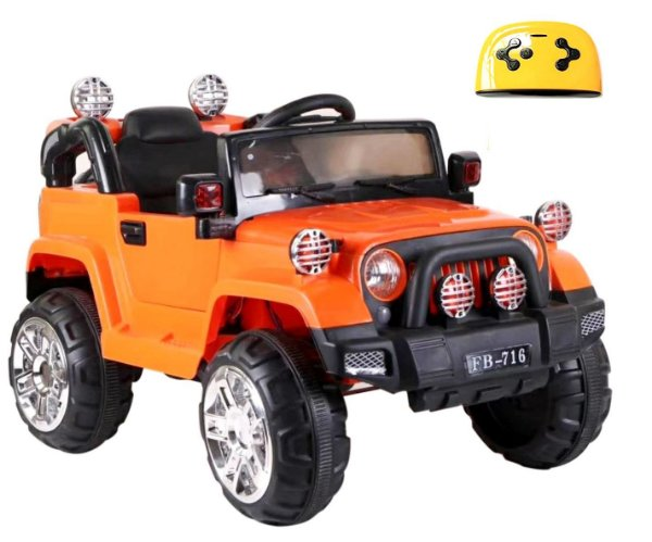 Mini Veículo Infantil Elétrico 3x1 Jipe 12v Controle Remoto Laranja Glee S8-O