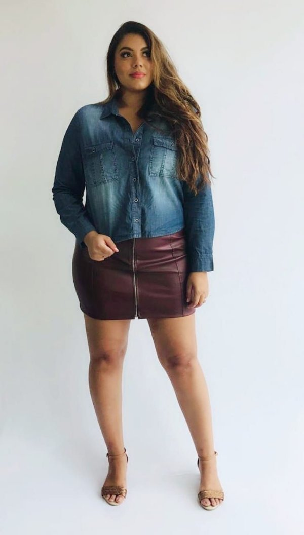 Camisa Jeans Cropped